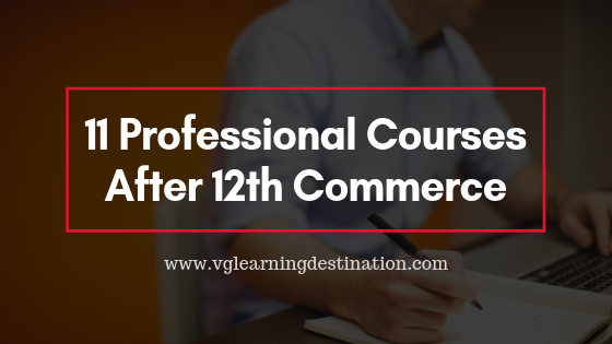 Professional Courses After 12th Commerce
